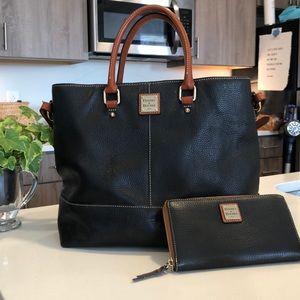 Dooney & Bourke handbag with matching wallet.